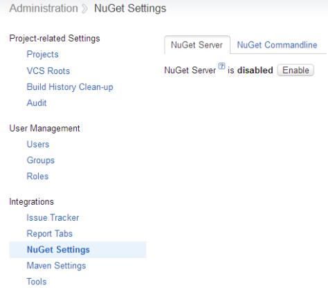 TeamCity NuGet Administration