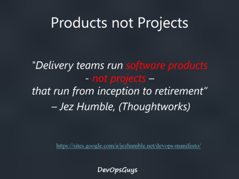 Products not Projects quotation
